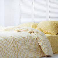Комплект постельного белья Хлопковые Традиции Евро 200x220 Белый с желтым PF058евро, КОД: 740707