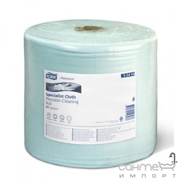 Аксессуары для ванной комнаты Tork Нетканый материал безворсовый в рулоне Tork 90494 голубой