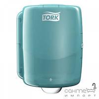 Аксессуары для ванной комнаты Tork Настенный дозатор макси с центральной вытяжкой для рулонов Tork 653000 бело-голубой