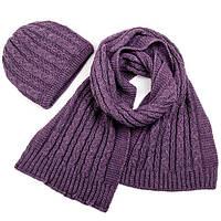 Набор шапка, шарф SVTR 1 Сирень 3-й комплект, КОД: 186411