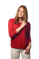 Джемпер ажурный SVTR L Красный 486, КОД: 268990