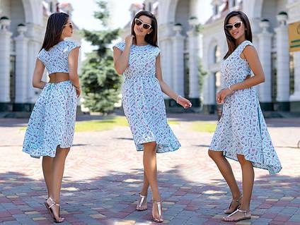 """Женское летнее платье 3131 """"Софт Ассиметрия Вырез Спина"""" в расцветках"""