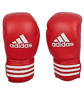 Боксерские перчатки Adidas ULTIMA 10 Красный Белый ADIBC021, КОД: 718726
