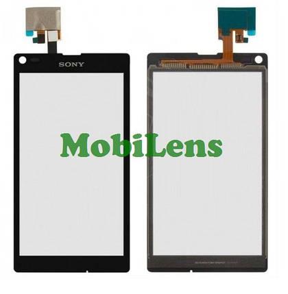 Sony C2105, C2104, Xperia L Тачскрин (сенсор) черный, фото 2
