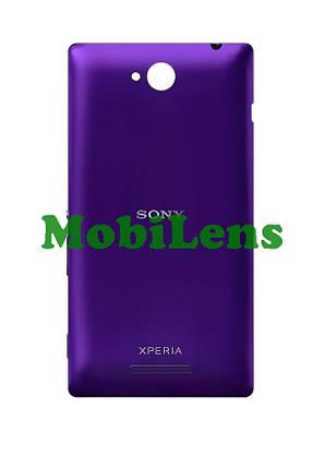 Sony C2305, Xperia C Задняя крышка фиолетовая, фото 2