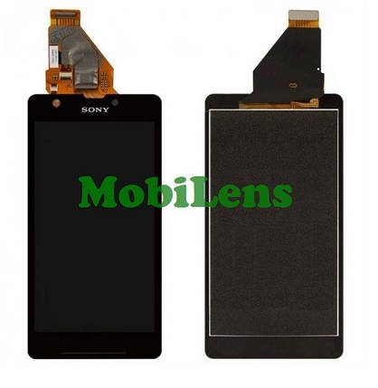 Sony C5502, C5503,M36h,M36i, Xperia ZR Дисплей+тачскрин(модуль) черный, фото 2