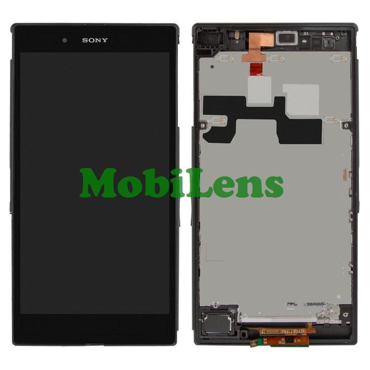 Sony C6802, C6806,C6833,XL39h, Xperia Z Ultra Дисплей+тачскрин(модуль) черный в рамке
