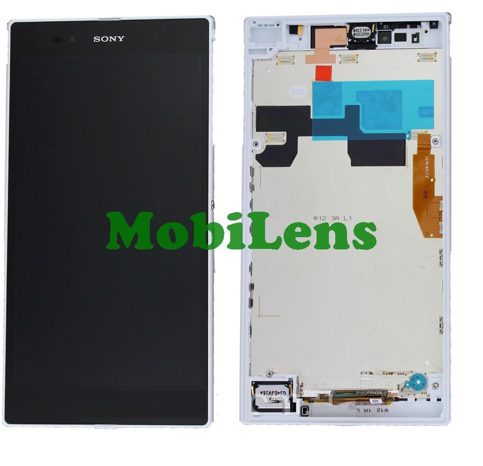 Sony C6802, C6806,C6833,XL39h, Xperia Z Ultra Дисплей+тачскрин(модуль) белый в рамке