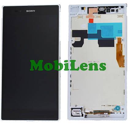 Sony C6802, C6806,C6833,XL39h, Xperia Z Ultra Дисплей+тачскрин(модуль) белый в рамке, фото 2