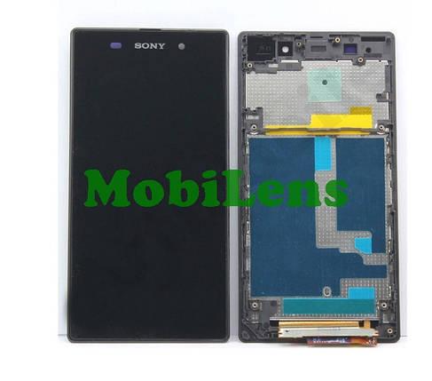 Sony C6902, C6903, C6906,C6943,L39h, Xperia Z1 Дисплей+тачскрин(модуль) черный в рамке, фото 2