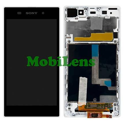 Sony C6902, C6903, C6906,C6943,L39h, Xperia Z1 Дисплей+тачскрин(модуль) белый в рамке, фото 2