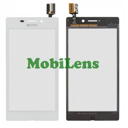 Sony D2403, Xperia M2 Aqua Тачскрин (сенсор) белый, фото 2