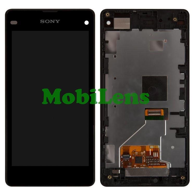 Sony D5503, Xperia Z1 Compact mini Дисплей+тачскрин(модуль) черный в рамке