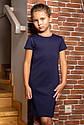 """Школьное, нарядное платье для девочки """"Герда"""". Размер 116 Синий, фото 2"""
