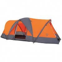Палатка туристическая четырехместная Bestway 68003 Traverse Оранжевый с серым 006804, КОД: 950014