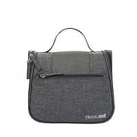 Дорожный подвесной органайзер для косметики Travel bag Grey SKL32-152804
