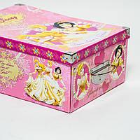 Коробка гардеробная картонная Evoluzione 30,5х42х17 см Принцессы, КОД: 293238