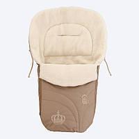 Конверт на овчине Baby Breeze 0356 Коричневый Baby Breeze 0356 капучино, КОД: 145055