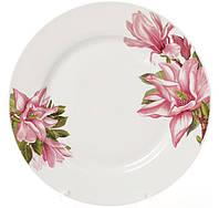 Набор 6 фарфоровых обеденных тарелок Bona Магнолия d 23 см psgBD-320-132, КОД: 945239