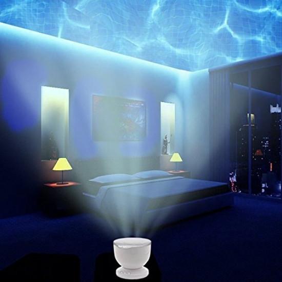 Звуковой компактный проектор релаксирующая световая акустическая система Океан с автоотключением R152601