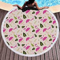 Пляжный Коврик Фламинго и Листья - 152714