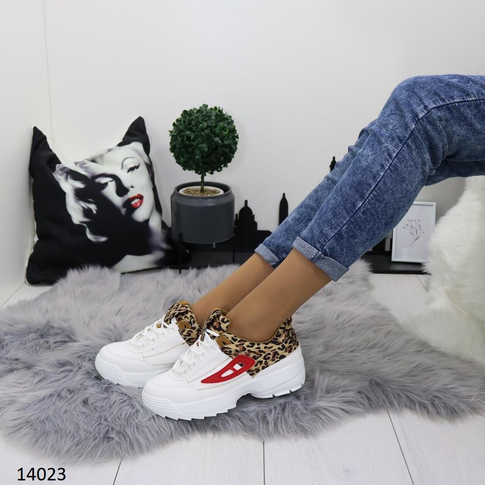 Кроссовки женские на платформе с тигровым принтом
