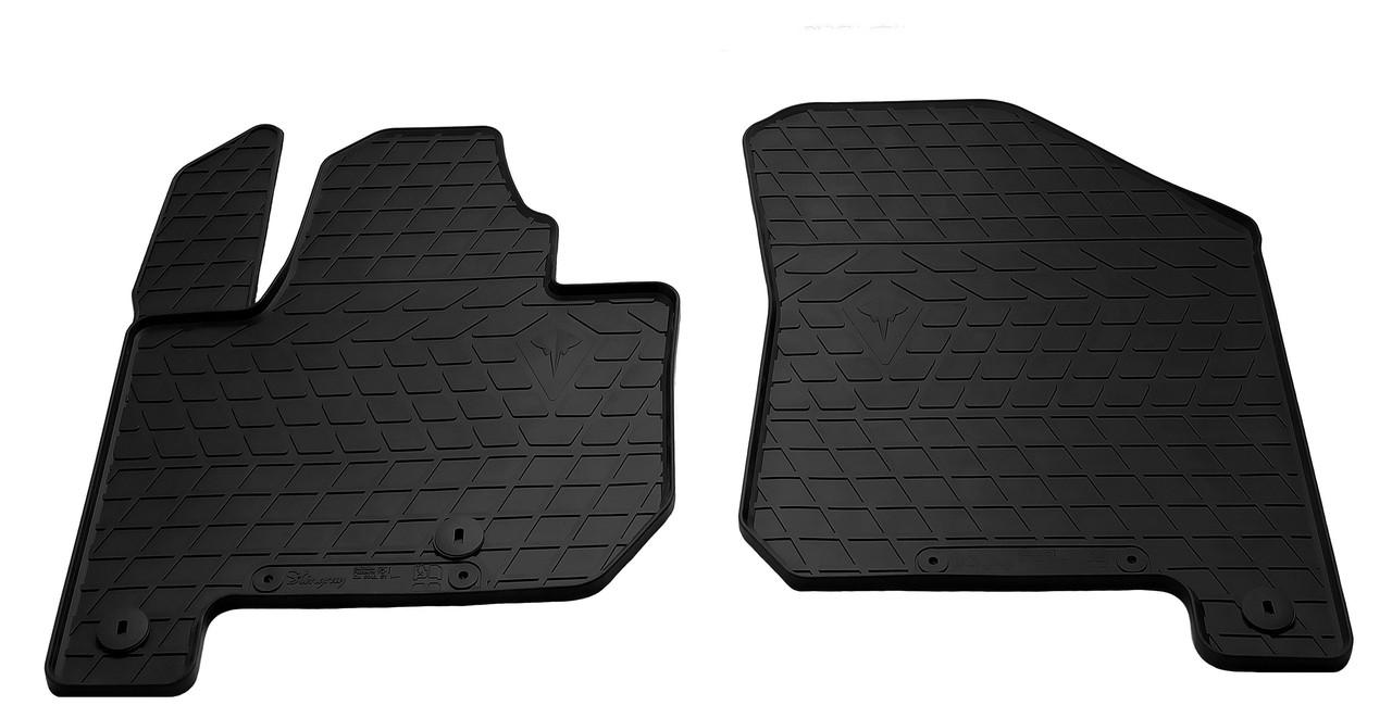 Коврики в салон резиновые передние для Kia Soul EV 2014- Stingray (2шт)