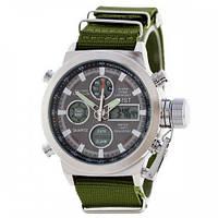 Мужские часы AMST Wristband Зеленые 1094-0004, КОД: 1022663