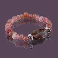 Браслет sherl кварц клубничный Розовый бр-квк-008, КОД: 392316