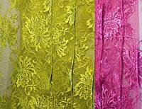 РАСПРОДАЖА! Ткань гипюр сетка с блеском