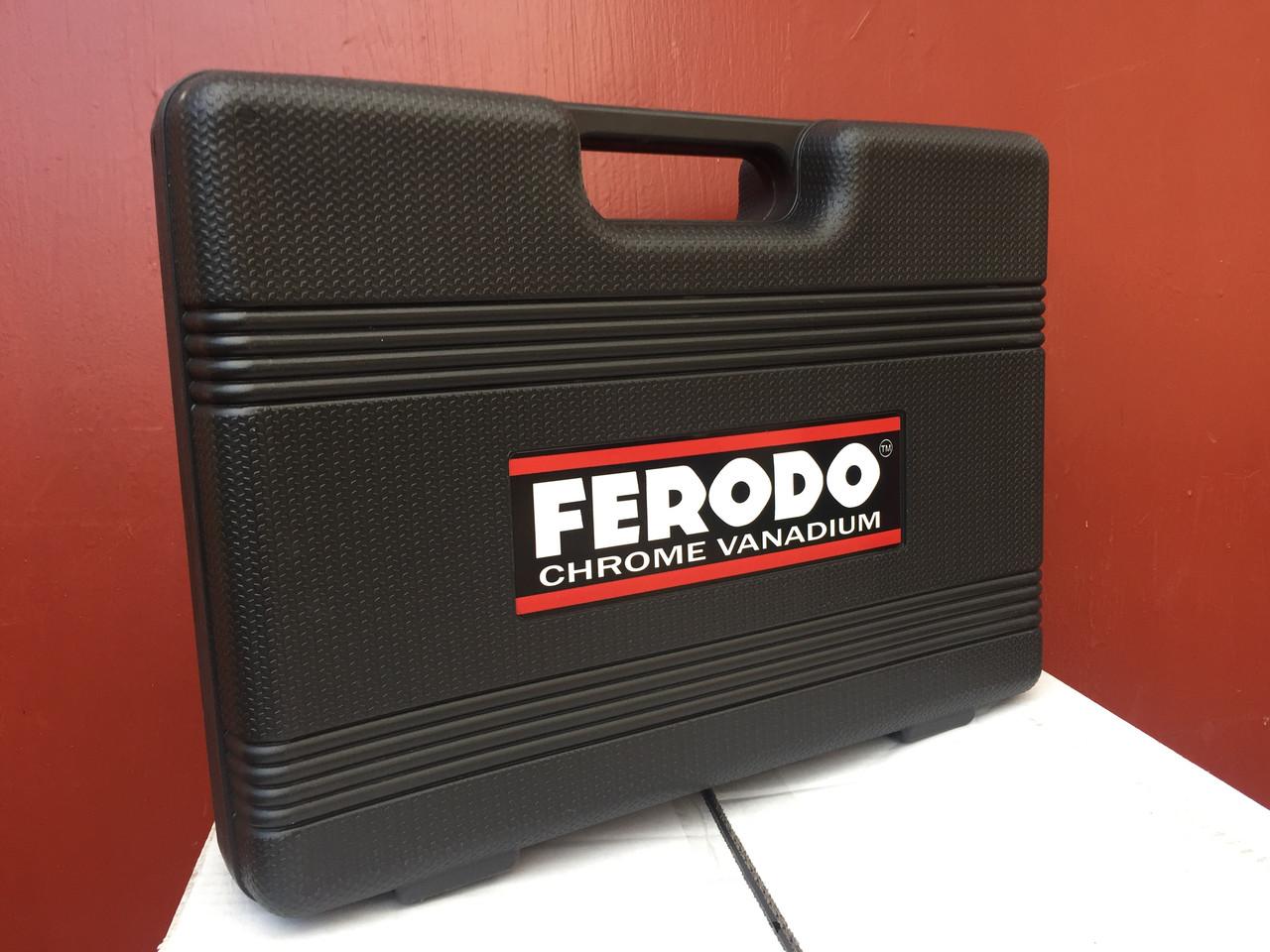 Набір інструментів FERODO 108 одиниць головки ключі біти тріскачка