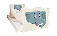 Кровать с ящиком Viorina-Deko Animal 13 Слон Серый 70×140
