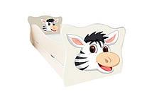 Кровать с ящиком Viorina-Deko Animal 16 Зебра Черно-белый 70×140