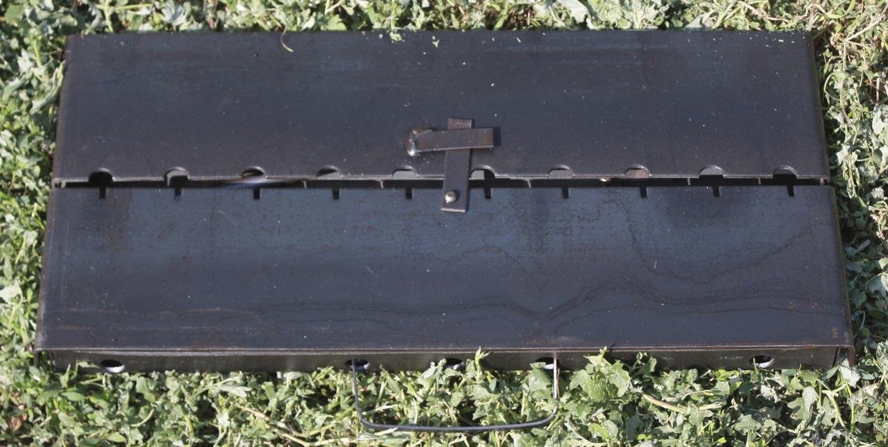 Мангал-шашлычница разборной переносной на 12 шампуров толщина стали 3 мм.