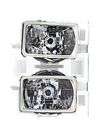 Дополнительные фары в бампер 170*110 штатные с двумя лампами Н4 и Н2