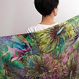Палантин шерстяной 10226-9, павлопосадский шарф-палантин шерстяной (разреженная шерсть) с осыпкой, фото 4