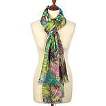 Палантин шерстяной 10226-9, павлопосадский шарф-палантин шерстяной (разреженная шерсть) с осыпкой, фото 2