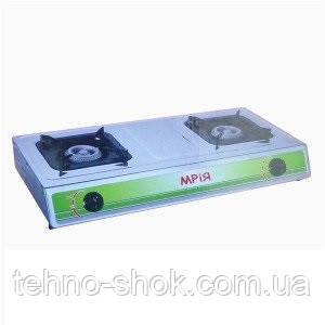Двухконфорочная газовая плита Мрия-2 (нержавеющая сталь)