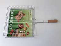 Барбекю №511 с деревянной ручкой высокое L 60 cm; 34,5 х 28 х 4,5 cm