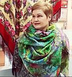 Палантин шерстяной 10226-9, павлопосадский шарф-палантин шерстяной (разреженная шерсть) с осыпкой, фото 6