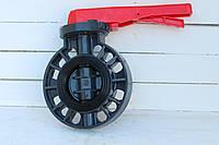Затвор дисковый баттерфляй ПВХ Ду 125 Runke, фото 1