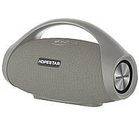 Портативная Bluetooth колонка Hopestar H32 с влагозащитой Grey USB FM FL-407, КОД: 1083834