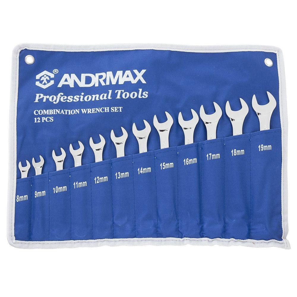 Набор ключей комбинированных, 12 предметов  ANDRMAX