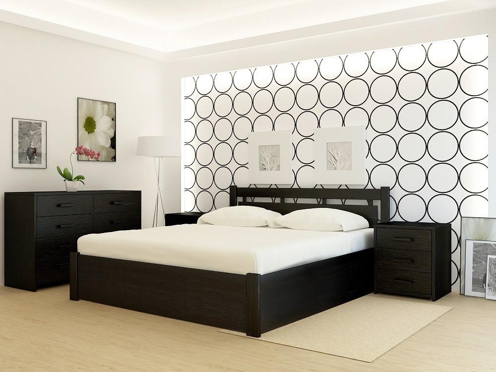 """Кровать деревянная TM """"YASON"""" Hong Kong PLUS с подъемным механизмом (Массив Ольхи либо Ясеня)"""