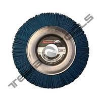 Щетка полимерно абразивная Пиранья Ø125x12x22 P180 синяя на УШМ