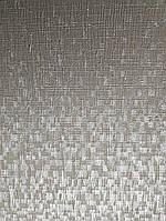Обои виниловые на флизелине Marburg Loft 59348 однотонные серые структурные с серебряной прожилкой