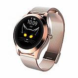 Женский Фитнес-браслет Mavens fit KW10 Plus gold, смарт-часы, фото 2
