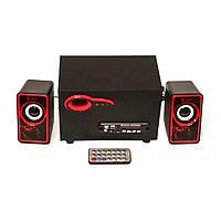 USB колонки для ПК Cyber 2.1 MP3 Bluetooth AN-2533 Красный gr006913, КОД: 659413