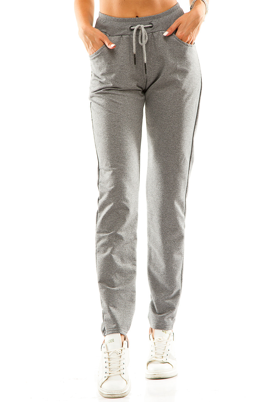 Женские спортивные штаны 714  темно-серые