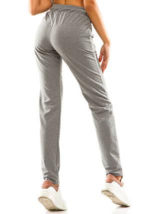 Женские спортивные штаны 714  темно-серые, фото 2